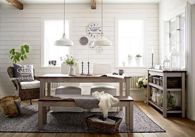 Svieža bielo-modrá kombinácia vo vidieckom interiéri 2
