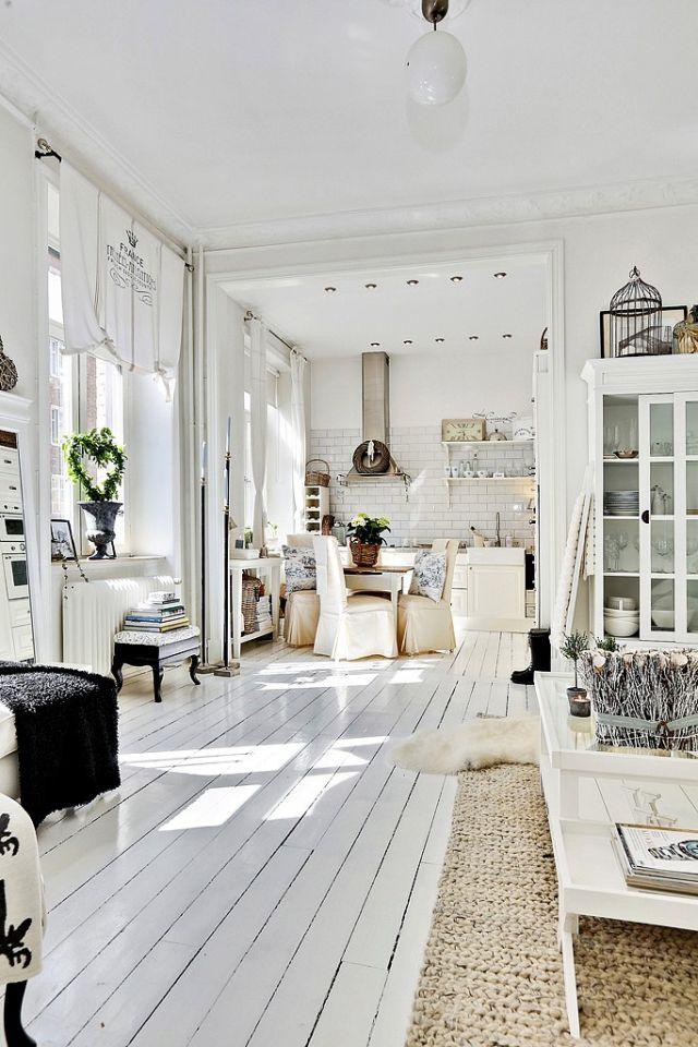 Čistý, svieži a útulný vidiecky interiér - 2