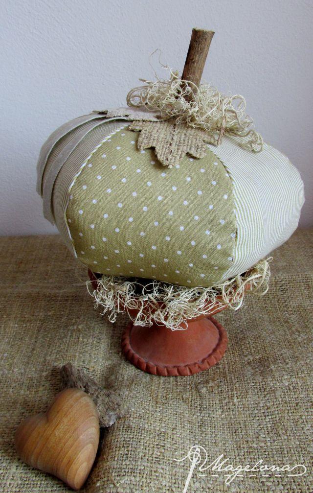DIY Textilná tekvička