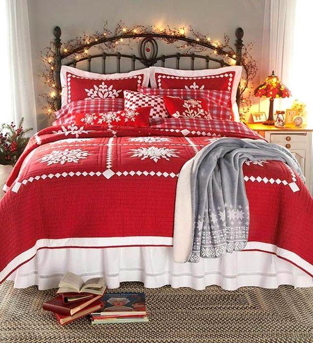7 tipov na vianočnú výzdobu do spálne